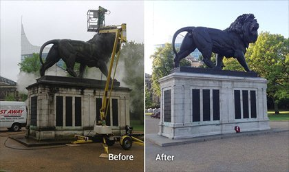Doff Cleaning System Monument