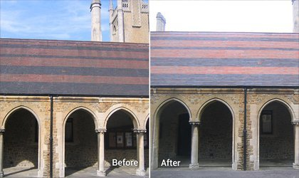 Doff Cleaning System Roof