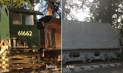 Grit Blasting Services - Train