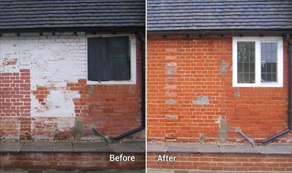 Paint Removal from Brick Work
