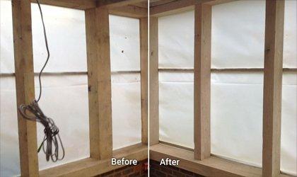 Sand Blasting Wooden Window Frame