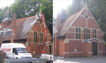Steam Cleaning Building Brickwork
